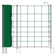 VOSS.farming classic+ 50m Elektrozaunnetz, Schafnetz, 90cm, 20 Pfähle, 2 Spitzen, grün