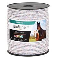 VOSS.farming Weidezaunseil 200m, Ø 6mm, 6x0,25 HPC® Powerleiter, Qualitäts Weidekordel, weiß
