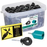 """VOSS.farming """"Starter Box XL"""" - 260x Ringisolator + Einschrauber + Warnschild"""