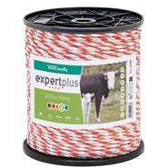 VOSS.farming Weidezaunseil 200m 6mm, 1x0,3 Kupfer + 5x0,2 Niro, weiß-rot 4****