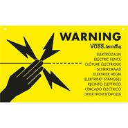 "Warnschild International ""VORSICHT ELEKTROZAUN / ELECTRIC FENCE"""