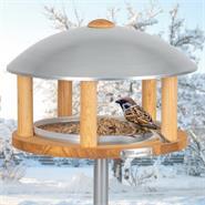 """VOSS.garden Vogelhaus """"Kolding"""" - aus Holz mit Metalldach, inkl. Ständer"""