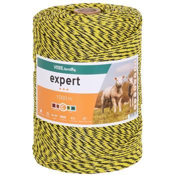 VOSS.farming Weidezaunlitze 1000 m, 1x 0,25 Kupfer + 2x 0,25 Niro, schwarz-gelb