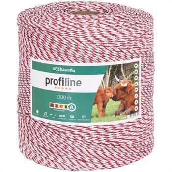 VOSS.farming Weidezaunlitze 1000 m, 1x 0,25 Kupfer + 8x 0,20 Niro, weiß-rot 4****