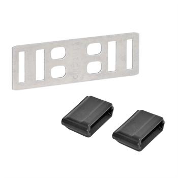 """5x Bandverbinder """"Litzclip®"""" für Weidezaunband 12,5 mm (Edelstahl)"""