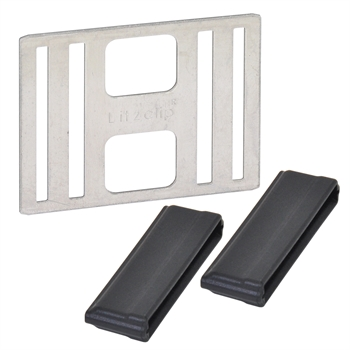 """5x Bandverbinder """"Litzclip®"""" für Weidezaunband 40 mm (Edelstahl)"""