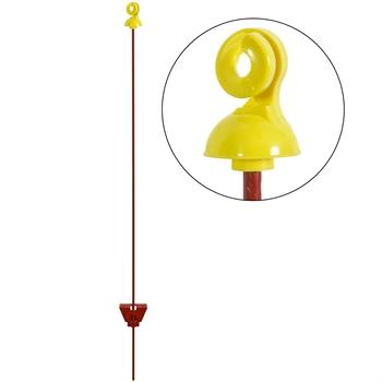 25x VOSS.farming Weidezaunpfahl 105 cm, rund, 7 mm, gelber Isolator