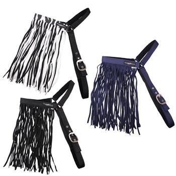 505460-1-pferd-pony-fransen-zebra-blau-schwarz-fliegen-stirnband-schutz-verstellbar-mit-kehlriemen-q