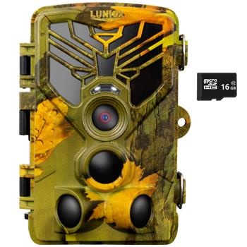 "Wildkamera ""LUNIOX VC24"", Fotofalle 24MP + HD Video, inkl. 16GB SD Karte"