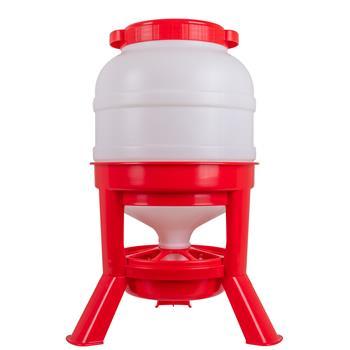 Siphon Futterautomat für Geflügel - robuster Geflügelfutterautomat, 25kg