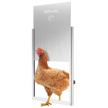 Hühnerklappe Tür-Set - extra große Hühner-Schiebetür für automatische Hühnerklappe, Alu 300 x 400mm