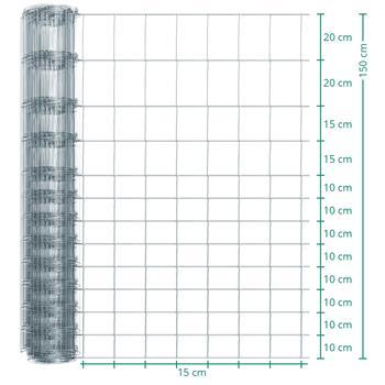 50m VOSS.farming Premium Wildzaun, Knotengeflecht, Höhe 150cm - 150/13/15