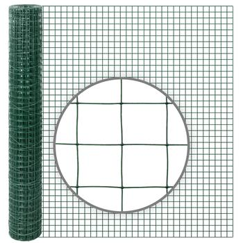 10m VOSS.farming Volierendraht, Drahtgitter, Höhe 100cm - 25,4x25,4x1,05mm, grün