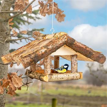 """VOSS.garden Reetdach-Vogelhaus """"Lehe"""", zum Aufhängen"""