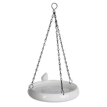 Vogeltränke hängend, Keramik, 500ml, Ø 21cm, weiß