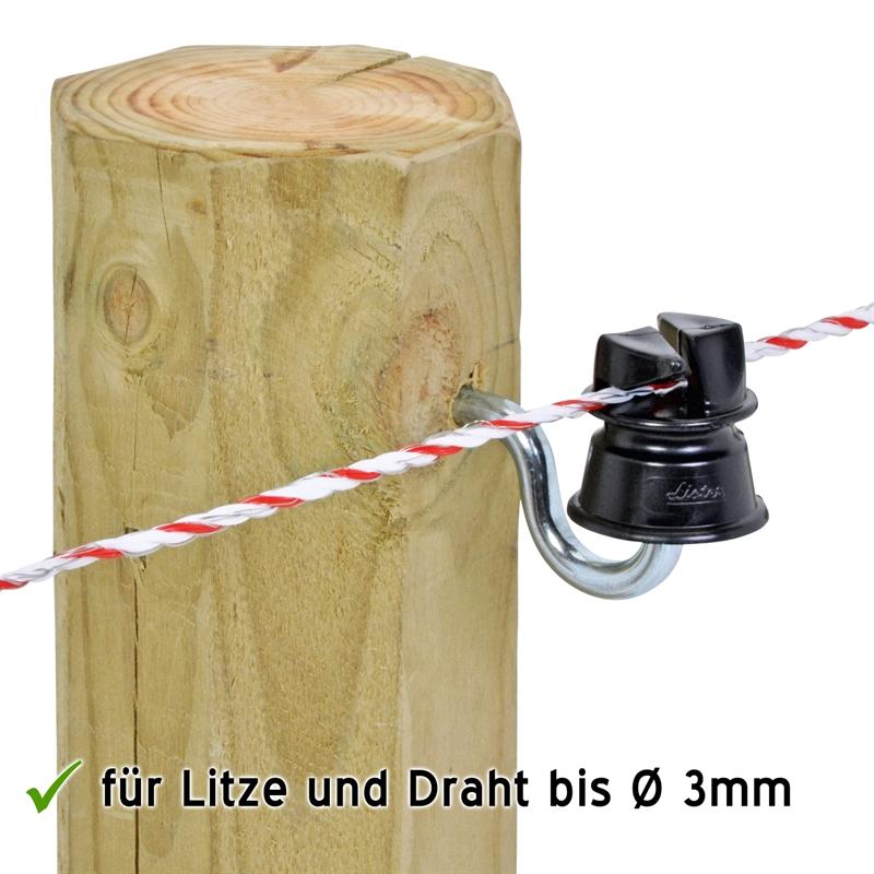 43210-Listerisolator-Praxisbild-am-Holzpfahl-mit-Weidezaunlitze.jpg