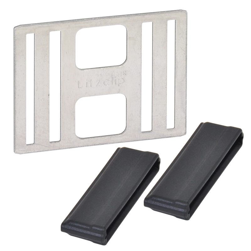 2x Bandverbindungskabel bis 20mm oder für Litze Weidezaun Breitband Horizont