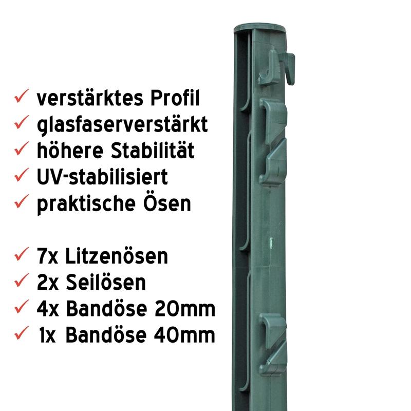 44452-Weidepfahl-aus-Kunststoff-74cm-Schafpfahl-Kaninchenpfahl-Wildschweinpfahl-Wildabwehrpfahl-grue