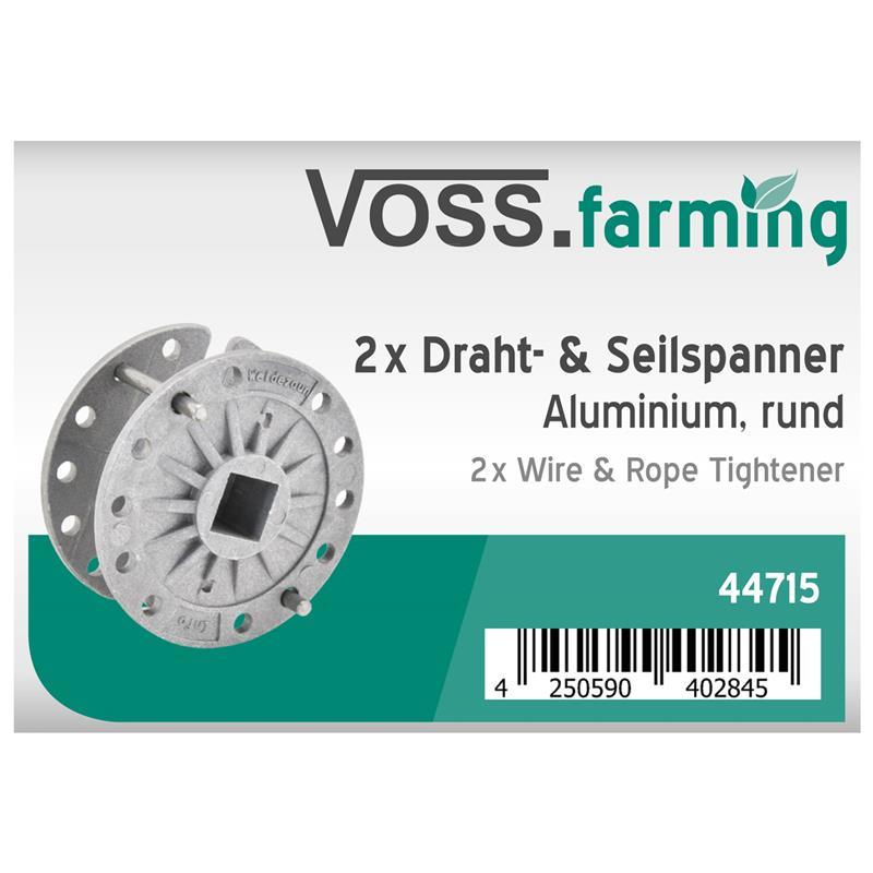 2x VOSS.farming Elektrozaun Draht- und Seilspanner, rund