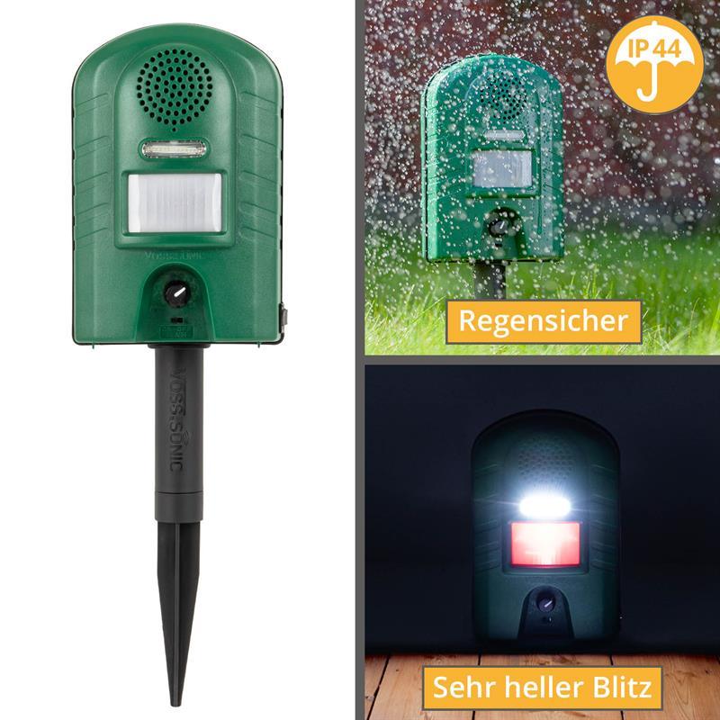 45343-4-voss-sonic-2800-ip44-spritzwasser-geschuetzt-starker-blitz-infrarot-bewegungsmelder-erdspies