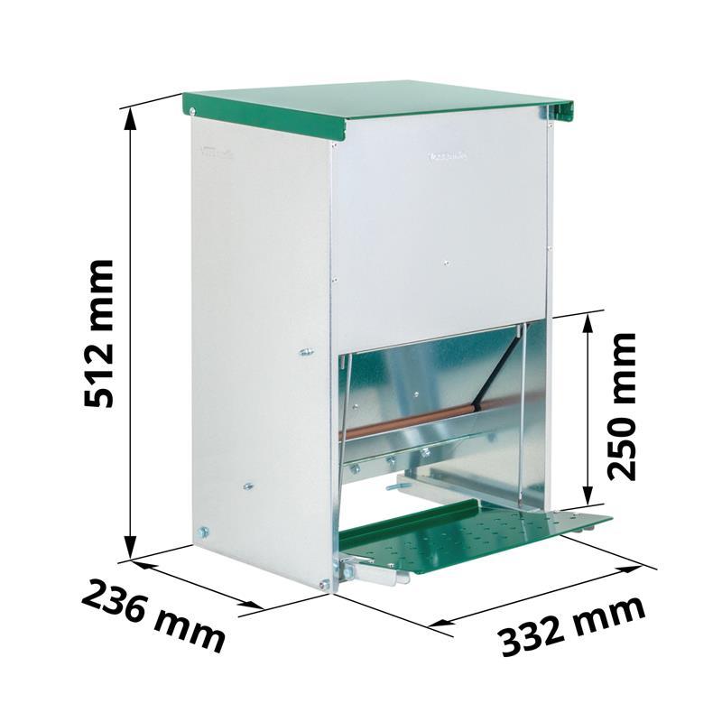 Geflügelfutterautomat mit Deckel