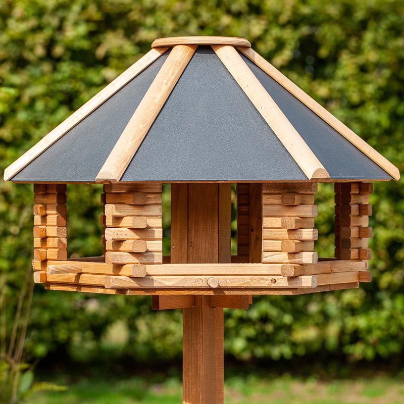 tofta hochwertiges vogelhaus aus holz mit metalldach. Black Bedroom Furniture Sets. Home Design Ideas