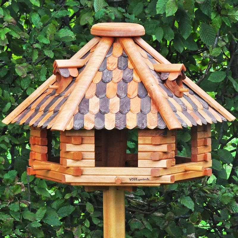 riesengrosses vossgarden vogelhaus herbstlaub aus holz