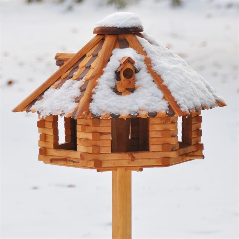 riesengro es vogelhaus herbstlaub aus holz ohne st nder. Black Bedroom Furniture Sets. Home Design Ideas