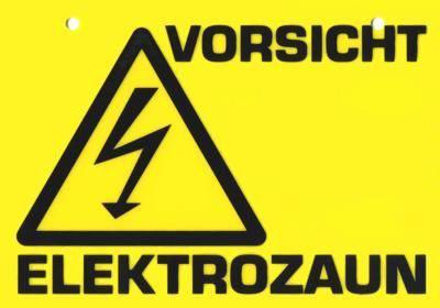 Anschluss-Set für Weidezaungeräte Warnschild für Elektrozaun Erdstab Kabel
